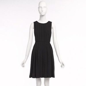 NWT J. Crew Black Pleated Shift Dress - size 12